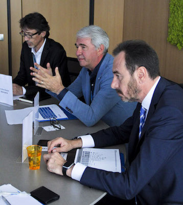 Da sinistra: Andrea Massari, Vincenzo Baggio, Riccardo Nobili